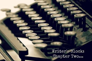 Vintage typewriter in black and white